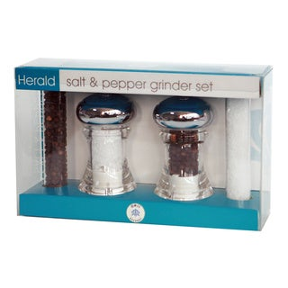 Salt and Pepper Grinder Set with Refills