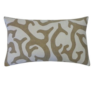 Reef Taupe Throw Pillow