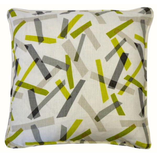 Pixel Lime Throw Pillow