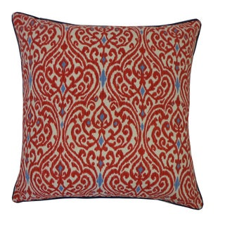 Jiti Geane Red Throw Pillow
