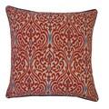 Jiti Geane Red Throw Pillow