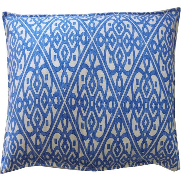 Knots Blue Throw Pillow