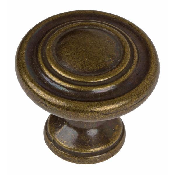 gliderite antique brass 3 ring round cabinet