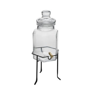Elements 1.5-gallon Glass Beverage Dispenser on Stand