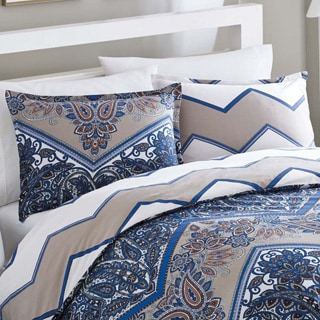 City Scene Sitella Reversible Cotton Duvet 3-piece Cover Set