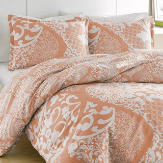 City Scene Medley Coral Cotton Reversible 3-piece Comforter Set