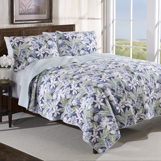 Tommy Bahama Dulcina Reversible Cotton 3-piece Quilt Set