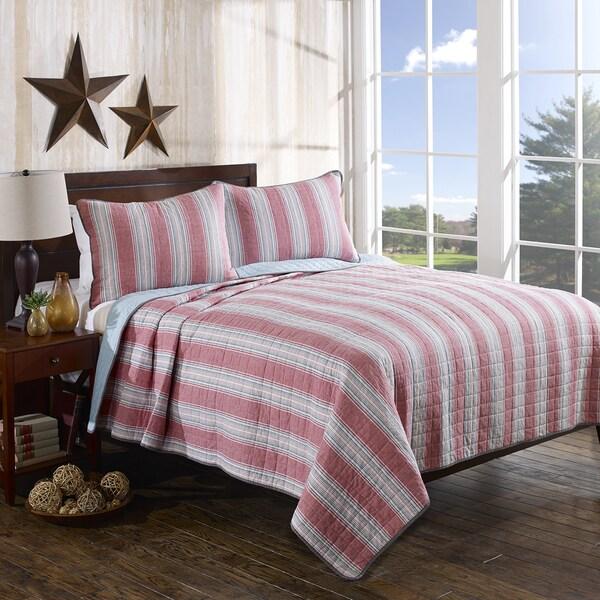 Nautica Guthrie Stripe Reversible Cotton 3-piece Quilt Set