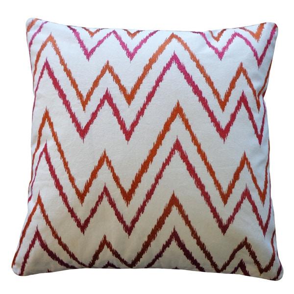 Sierra Rust Pink Throw Pillow