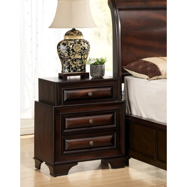 Sarina Varnish Oak Nightstand