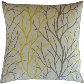 Tree Yellow Throw Pillow