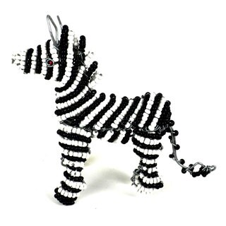 Handmade Small Beaded Zebra (South Africa)