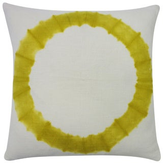 Dye Chartruese Throw Pillow