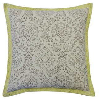 Ratan Cream Throw Pillow