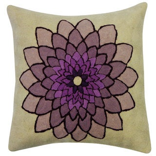 Spin Purple Throw Pillow