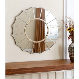 Abbyson Living Embassy Round Wall Mirror