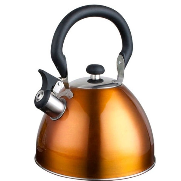Alpine cuisine 2 5 liter bronze orange whistling tea for Alpine cuisine tea kettle