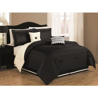 Royale Black/Ivory Reversible 6-piece Comforter Set