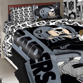 Northwest Company Raiders NFL Mickey Mouse 3-piece Twin Comforter Set
