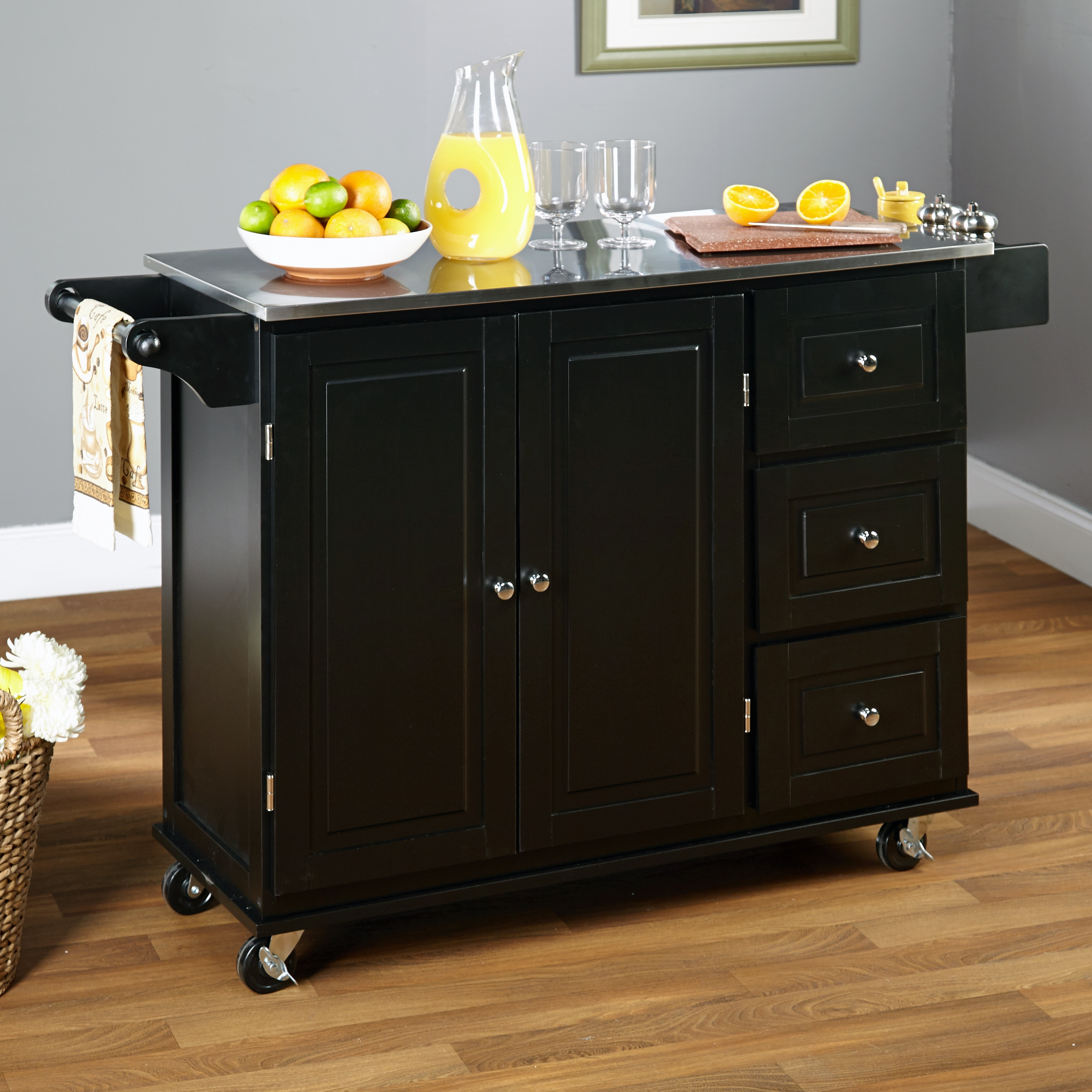 Cart  Overstock Shopping  Great Deals on Simple Living Kitchen Carts