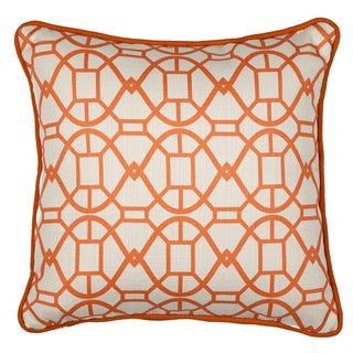 Chole Tangerine Geometric 16-inch Throw Pillow