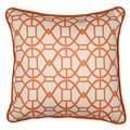Chole Tangerine Geometric 16-inch Throw Pillow