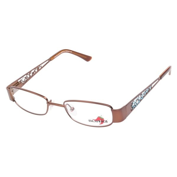 Jalapenos Waking Up In Vegas Brown Prescription Eyeglasses