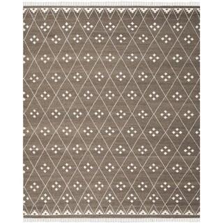 Safavieh Hand-Woven Natural Kilim Brown/ Ivory Wool Rug (10' x 14')