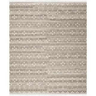 Safavieh Hand-Woven Natural Kilim Natural/ Ivory Wool Rug (10' x 14')