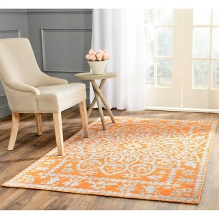 Safavieh Hand-Knotted Stone Wash Copper Wool/ Cotton Rug (8' x 10')
