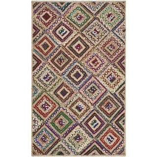 Safavieh Hand-Woven Cape Cod Natural/ Red Jute Rug (2' x 3')