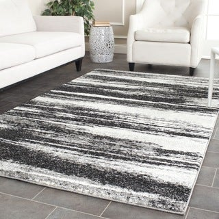Safavieh Retro Modern Abstract Dark Grey/ Light Grey Rug (10' x 14')