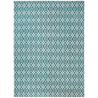 Safavieh Handmade Cedar Brook Teal/ Ivory Cotton Rug (8' x 11')