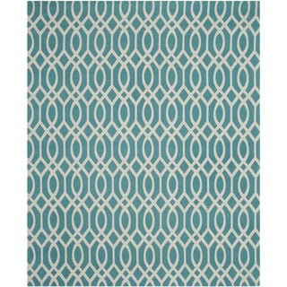Safavieh Handmade Cedar Brook Light Teal/ Ivory Cotton Rug (8' x 11')