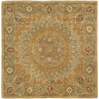 Safavieh Hand-Tufted Heritage Light Brown/ Grey Wool Rug (4' Square)