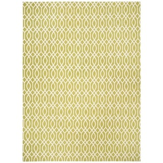 Safavieh Handmade Cedar Brook Lime/ Ivory Cotton Rug (9' x 12')