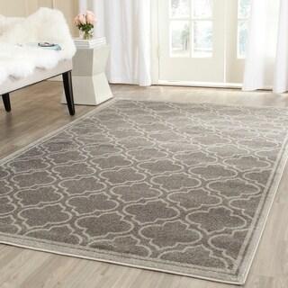 Safavieh Indoor/ Outdoor Amherst Grey/ Light Grey Rug (6' x 9')