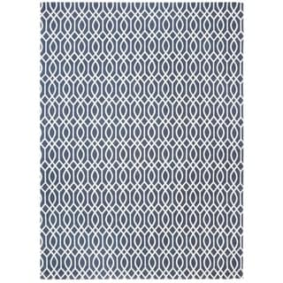 Safavieh Handmade Cedar Brook Navy/ Ivory Cotton Rug (9' x 12')