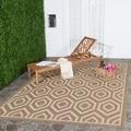 Safavieh Indoor/ Outdoor Courtyard Brown/ Bone Rug (9' x 12')