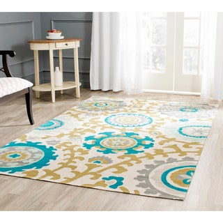 Safavieh Handmade Cedar Brook Citron/ Ivory Cotton Rug (9' x 12')