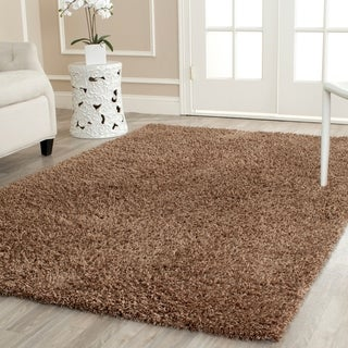Safavieh Handmade Shag Light Brown Polyester Rug (9' x 12')