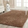 review detail Safavieh Handmade Shag Light Brown Polyester Rug (9' x 12')
