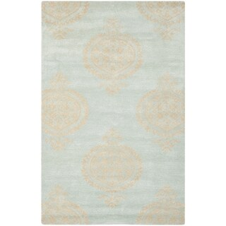 Safavieh Hand-Tufted Soho Blue/ Beige Wool/ Viscose Rug (8'3 x 11')