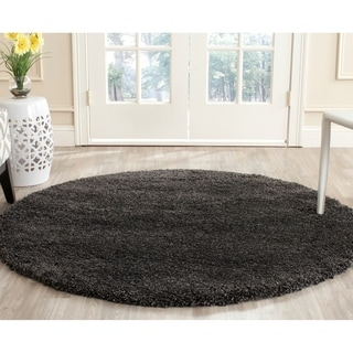 Safavieh Milan Shag Dark Grey Rug (7' Square)