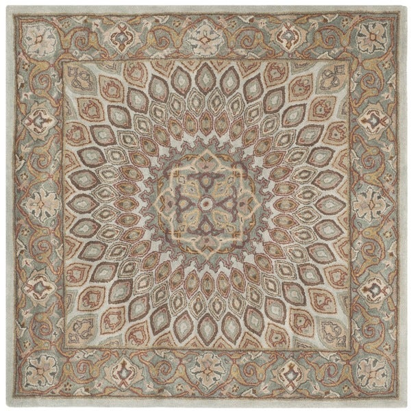 Safavieh Hand Tufted Heritage Blue Grey Wool Rug 8
