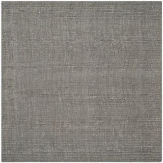 Safavieh Hand-woven Natural Fiber Light Grey Chunky Thick Jute Rug (8' Square)