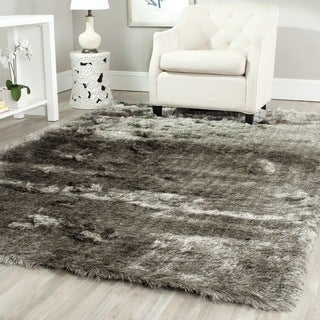 Safavieh Shag Silver Polyester Rug (9' Square)