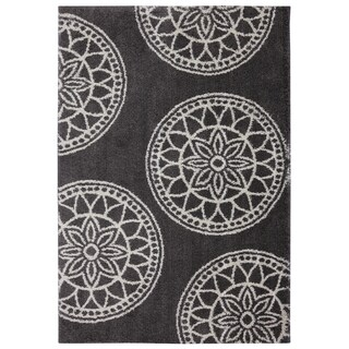 Mohawk Home Gray Medallions Cocoa Woven Rug (8' x 10')