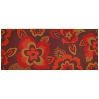 Indoor Comfort Ayanna Floral Mat (1'8 x 4')