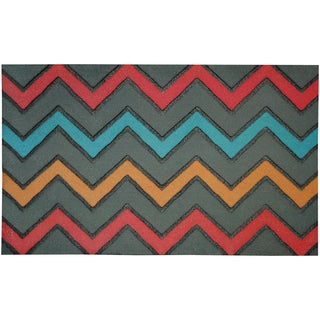 Outdoor Zig Zig Bright Doormat (1'6 x 2'6)